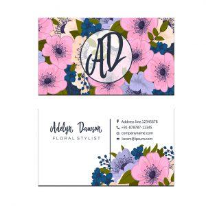 כרטיס ביקור - פרחים דגם 4