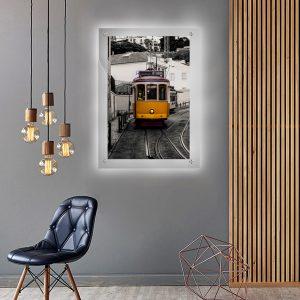 לייטבוקס תמונה מוארת - החשמלית של ליסבון לעיצוב הבית