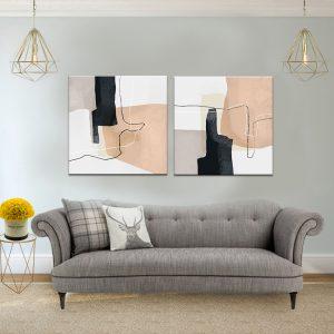 תמונת קנבס התפשטות מודרנית לסלון לעיצוב הבית