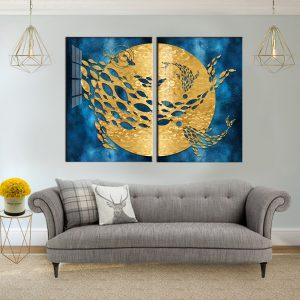 תמונת קנבס לוויתן חלל לסלון לעיצוב הבית