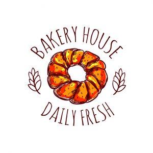 לוגו מאפיות ועוגות דגם 4