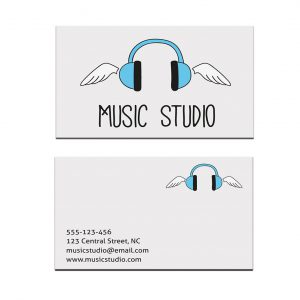 כרטיס ביקור - מוזיקה דגם 10
