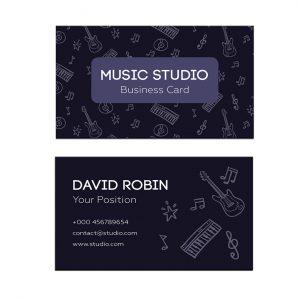 כרטיס ביקור - מוזיקה דגם 5