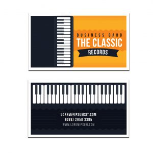 כרטיס ביקור - מוזיקה דגם 9
