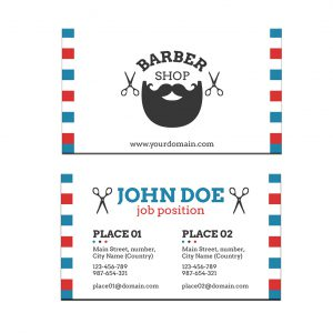 כרטיס ביקור - מספרות ועיצוב שיער דגם 10