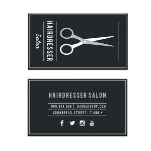 כרטיס ביקור - מספרות ועיצוב שיער דגם 3