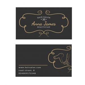 כרטיס ביקור - מספרות ועיצוב שיער דגם 4