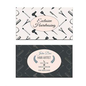 כרטיס ביקור - מספרות ועיצוב שיער דגם 7