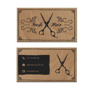 כרטיס ביקור - מספרות ועיצוב שיער דגם 8