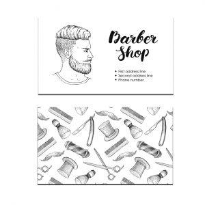 כרטיס ביקור - מספרות ועיצוב שיער דגם 9