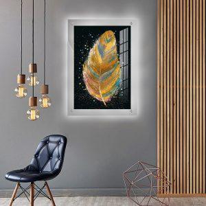לייטבוקס תמונה מוארת - נוצה מופשטת לעיצוב הבית