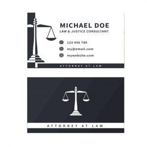כרטיס ביקור - עריכת דין דגם 1