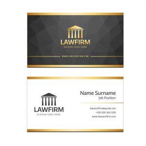כרטיס ביקור - עריכת דין דגם 2