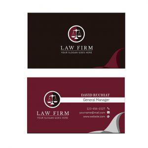 כרטיס ביקור - עריכת דין דגם 3