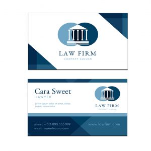 כרטיס ביקור - עריכת דין דגם 5