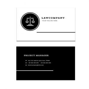 כרטיס ביקור - עריכת דין דגם 6