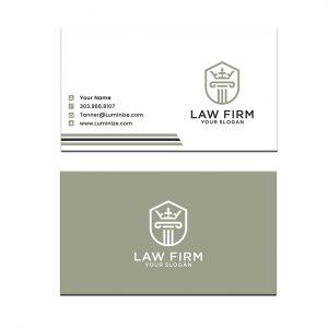 כרטיס ביקור - עריכת דין דגם 7