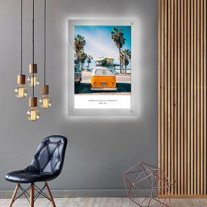 לייטבוקס תמונה מוארת - רכב הגלשנים לעיצוב הבית