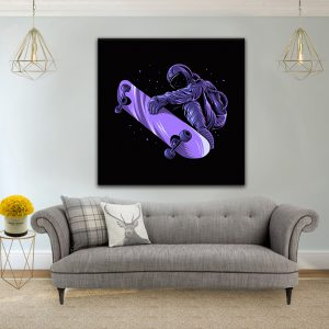 תמונת קנבס אסטרונאוט סקייט לסלון לעיצוב הבית
