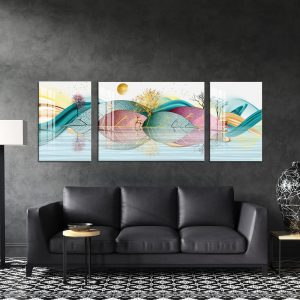תמונת קנבס גבעות של עלים לסלון לעיצוב הבית