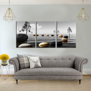 תמונת קנבס דרך האבנים לסלון לעיצוב הבית