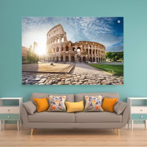 תמונת זכוכית הקולוסיאום ברומא לסלון לעיצוב הבית