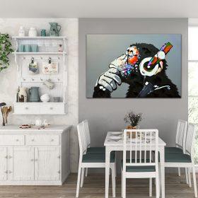 תמונת קנבס הקוף החושב לסלון לעיצוב הבית