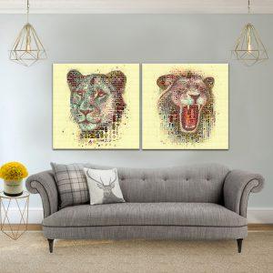 תמונת קנבס טורפים דיגיטליים לסלון לעיצוב הבית