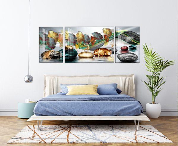 תמונת קנבס מצעד העלים לסלון לעיצוב הבית
