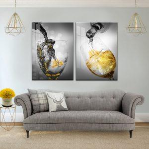תמונת קנבס משקה סוער לסלון לעיצוב הבית