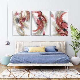 תמונת קנבס נוצות פודרה לסלון לעיצוב הבית