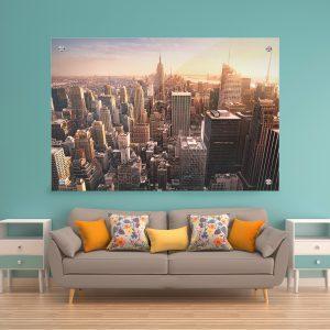 תמונת זכוכית ניו יורק מלמעלה לסלון לעיצוב הבית