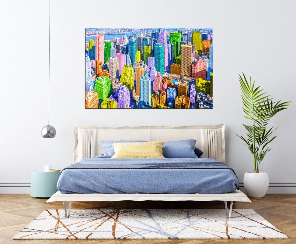 תמונת קנבס ניו יורק פופארט לסלון לעיצוב הבית