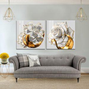 תמונת קנבס שושנים טהורים לסלון לעיצוב הבית