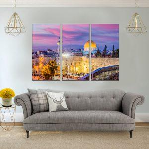 תמונת קנבס הכותל מזווית אחרת לסלון לעיצוב הבית