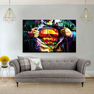 תמונת קנבס סופר פופ ארט לסלון לעיצוב הבית