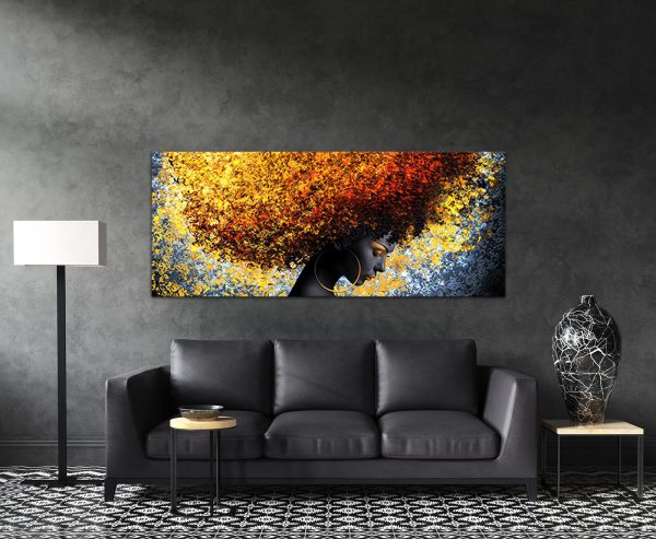 תמונת קנבס שיער השמש לסלון לעיצוב הבית