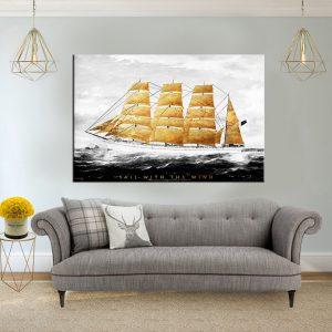 תמונת קנבס אוניית פז לסלון לעיצוב הבית