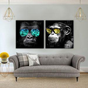 תמונת קנבס משקפי קופים לסלון לעיצוב הבית