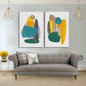 תמונת קנבס אבני הצבע לסלון לעיצוב הבית