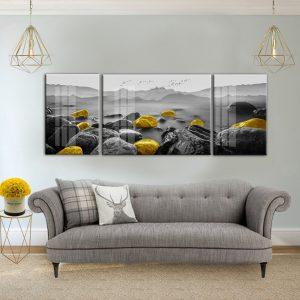תמונת קנבסאבני יוקרה שחור לבן לסלון לעיצוב הבית