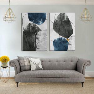 תמונת קנבס אבסטרקט חורפי לסלון לעיצוב הבית