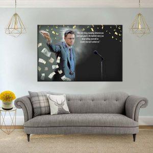 תמונת קנבס הזאב מוול סטריט לסלון לעיצוב הבית