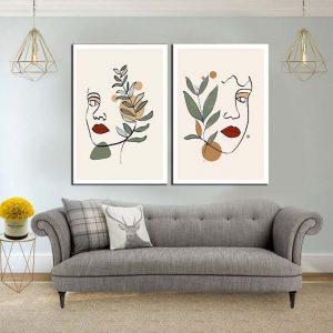 תמונת קנבס פני עלי זית לסלון לעיצוב הבית