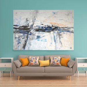תמונת זכוכית אבסטרקט איזון לסלון לעיצוב הבית