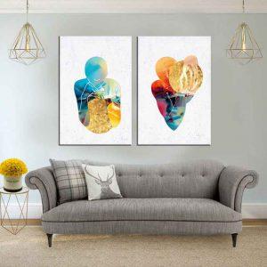 תמונת קנבס אנשי כדור הזהב לסלון לעיצוב הבית