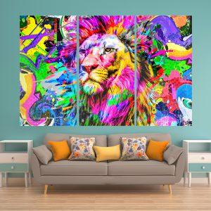 אריה בצבע זכוכית