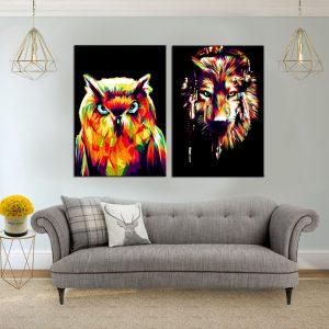 תמונת קנבס חיות אינדיניות לסלון לעיצוב הבית
