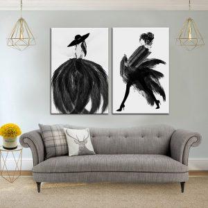תמונת קנבס נוצות אופנותיות לסלון לעיצוב הבית