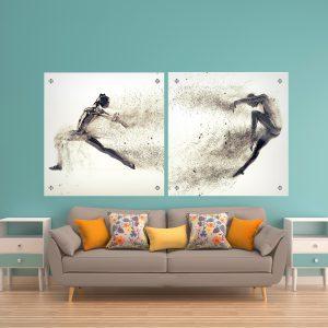 תמונת זכוכית עפים ברוח לסלון לעיצוב הבית